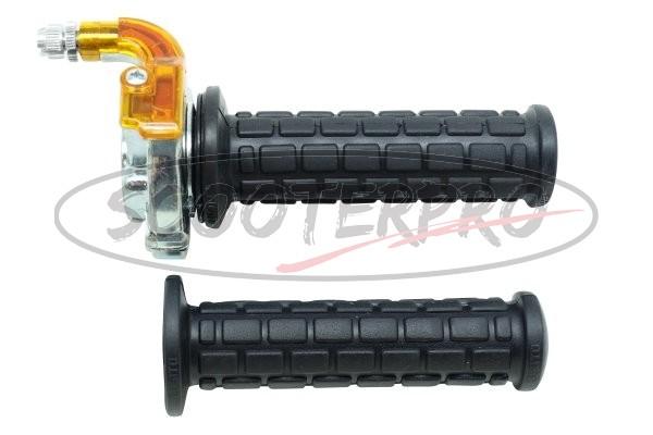 throttle assembly set M84 black/chrome