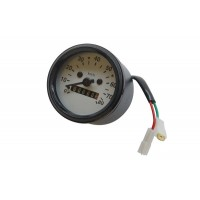 speedometer white plate 80km/ph 60mm
