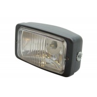 headlight rectangle black clear